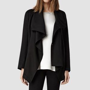 NEW AllSaints Casual Black Wrap Jacket